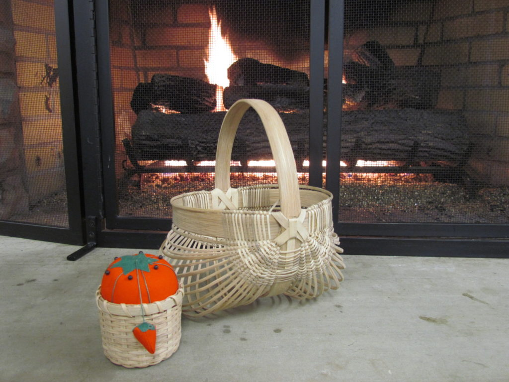 BASKET BY FIREPLACE